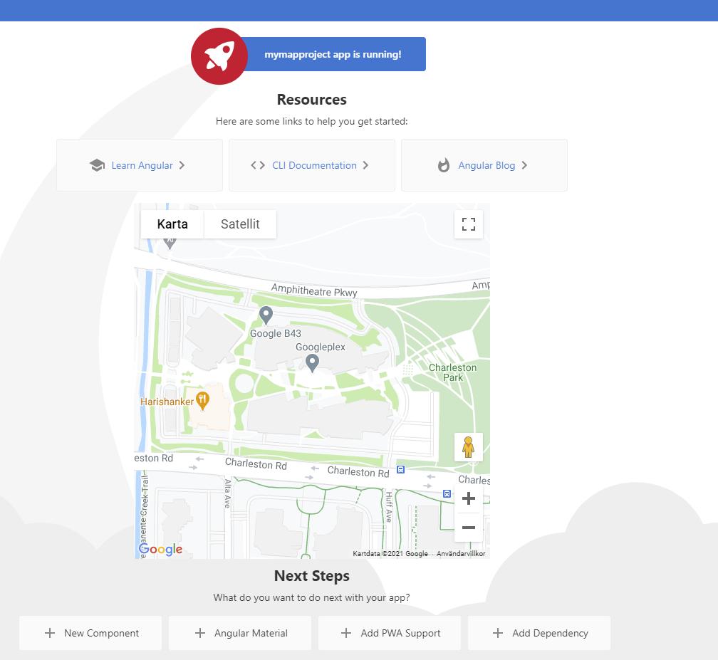 Google Maps in Angular