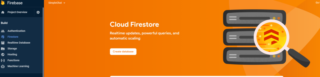 Viewing Cloud Firestore in Firebase